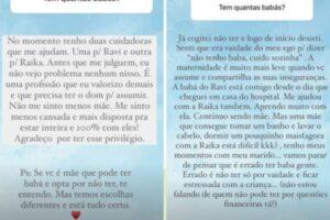 Romana Novais acha fundamental ter babás para cuidar dos filhos