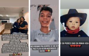 Mãe de MC Kevin desabafa sobre falsos amigos do filho: 'Triste realidade'