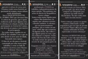Marina Ruy Barbosa rebate alfinetadas de Samantha Schmütz e pede respeito: 'Cannes não deveria ser pauta'