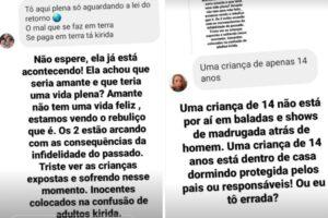 Irmã de Pétala rebate Lívia Andrade após críticas: 'Fácil culpar uma criança de 14 anos'